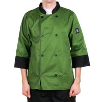 Chef Revival J134MT-2X Cool Crew Fresh Size 52 (2X) Mint Green Customizable Chef Jacket with 3/4 Sleeves - Poly-Cotton