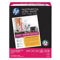 Hewlett Packard HEW112000CT 8 1/2 inch x 11 inch White Ream of 20# Multipurpose Paper - 10/Case