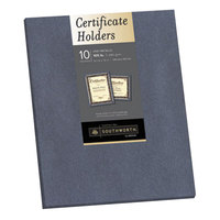 Southworth SOU98869 8 1/2 inch x 11 inch Gray Certificate Holder - 10/Pack