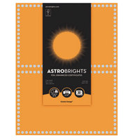 Neenah WAU91108 Astrobrights 8 1/2 inch x 11 inch Cosmic Orange / Silver Foil-Enhanced 65# Certificate Paper - 30/Pack