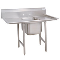 Advance Tabco 9-81-20-18RL Super Saver One Compartment Pot Sink with Two Drainboards - 58 inch