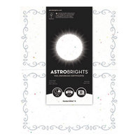 Neenah WAU91110 Astrobrights 8 1/2 inch x 11 inch Stardust White / Silver Foil-Enhanced 65# Certificate Paper - 30/Pack