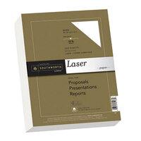 Southworth SOU358C 8 1/2 inch x 11 inch White 32# 25% Cotton Premium Laser Paper