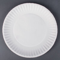 9 inch White Economy Paper Plate 100 / Pack