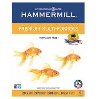 Hammermill HAM106310 8 1/2 inch x 11 inch White Ream of 20# Premium Multipurpose Paper - 10/Case