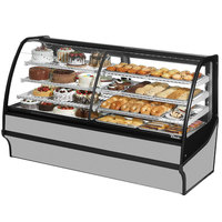 True TDM-DZ-77-GE/GE 77 inch Stainless Steel Dual Dry / Refrigerated Bakery Display Case
