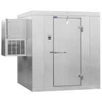 Nor-Lake KLB7488-W Kold Locker 8' x 8' x 7' 4 inch Floorless Indoor Walk-In Cooler with Wall Mounted Refrigeration
