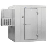 Nor-Lake KLB74610-W Kold Locker 6' x 10' x 7' 4 inch Floorless Indoor Walk-In Cooler with Wall Mounted Refrigeration