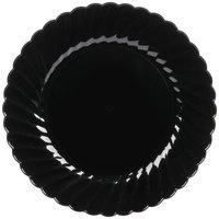 """WNA Comet CW75180BK Classicware 7 1/2"""" Black Plastic Plate - 180/Case"""