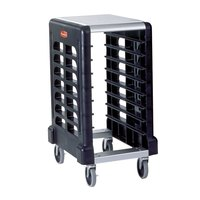 Rubbermaid 3315 8 Pan Black Max System End Load Prep Cart with Cutting Board (FG331500BLA) - Unassembled