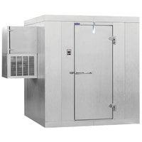 Nor-Lake KLF77612-W Kold Locker 6' x 12' x 7' 7 inch Indoor Walk-In Freezer with Wall Mounted Refrigeration