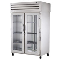 True STA2RPT-2G-2S-HC Specification Series 52 5/8 inch Glass Front, Solid Back Door Pass-Through Refrigerator