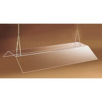 Cal Mil 772-S Suspended Acrylic Sneeze Guard - 48 inch Double Face