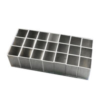 Polar Temp 4 1/8 inch x 8 3/4 inch x 10 inch Aluminum Freeze Cans for 11 lb. Ice Block   - 67/Pack