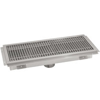 Advance Tabco FFTG-1248 12 inch x 48 inch Floor Trough with Fiberglass Grating