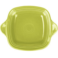 Homer Laughlin 1456332 Fiesta Lemongrass 10 3/4 inch Square Tray with Handles - 4/Case