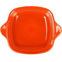 Homer Laughlin 1456338 Fiesta Poppy 10 3/4 inch Square Tray with Handles - 4/Case