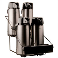 Four Pot Black Wire Airpot Rack with Drip Trays
