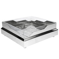Eastern Tabletop RB2323 20 3/4 inch x 20 3/4 inch x 5 inch Square Stainless Steel Raw Bar with Wave Design