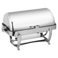 Eastern Tabletop 3114 Park Avenue 8 Qt. Rectangular Stainless Steel Roll Top Induction Chafer