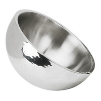 Eastern Tabletop 7212 160 oz. Stainless Steel Hammered Dual Angle Insulated Bowl