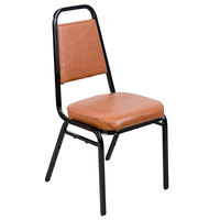 Lancaster Table & Seating Brown Stackable Chair with 2 inch Padded Seat