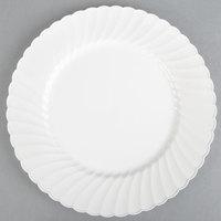 WNA Comet CW10144W Classicware 10 1/4 inch White Plastic Plate - 144 / Case