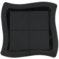 Fineline Tiny Temptations 6206-BK 7 1/4 inch x 7 1/4 inch Tiny Tangents Disposable Black Plastic Tray - 120/Case