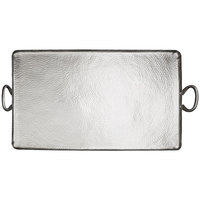 American Metalcraft G30 30 3/4 inch x 16 1/4 inch Large Rectangular Hammered Stainless Steel Griddle