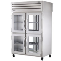 True STA2RPT-4HG-2G-HC Specification Series 52 5/8 inch Half Glass Front, Full Glass Back Pass-Through Refrigerator