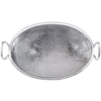 American Metalcraft G23 23 3/4 inch x 13 3/4 inch Oval Hammered Stainless Steel Griddle