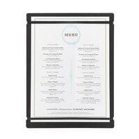 Cal-Mil 2034-811-13 8 1/2 inch x 11 inch Black Menu Board with Flex Bands
