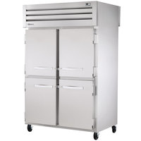 True STA2RPT-4HS-2G-HC Specification Series 52 5/8 inch Half Solid Front, Full Glass Back Pass-Through Refrigerator