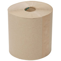 Lavex Janitorial 800' Natural Brown Kraft Hardwound Roll Paper Towel - 6 / Case