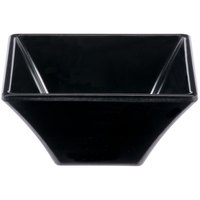 GET ML-278-BK 8 oz. Black Siciliano Square Bowl - 12/Case