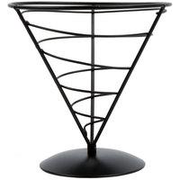 Tablecraft AC57 Vertigo Round Appetizer Wire Cone Basket - 5 inch x 7 inch