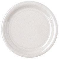 Carlisle 4300871 Durus 6 1/2 inch Sand Narrow Rim Melamine Plate - 48/Case