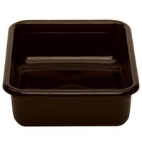 Cambro 1520CBR131 Cambox 20 inch x 15 inch x 5 inch Dark Brown Plastic Regal Bus Box