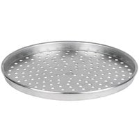 American Metalcraft HA90141.5P 14 inch x 1 1/2 inch Perforated Heavy Weight Aluminum Tapered / Nesting Pizza Pan