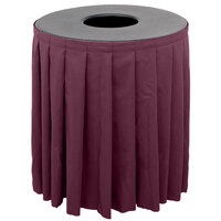 Buffet Enhancements 1BCTV55SET Black Round Topper with Burgundy Skirting for 55 Gallon Trash Cans