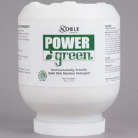 Noble Chemical 8 lb. Power Green Heavy Duty Solid Machine Dish Detergent - Ecolab® Apex Power #17063 Alternate - 4/Case
