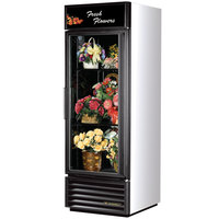 True GDM-23FC-LD White Glass Door Floral Case - 23 Cu. Ft.
