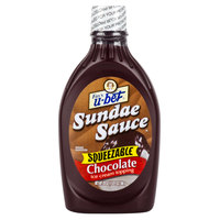 U-Bet Chocolate Sundae Sauce - 20 oz. Squeeze Bottle
