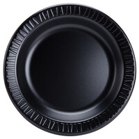 Dart Solo 9PBQR Quiet Classic 9 inch Black Laminated Round Foam Plate - 125 / Pack