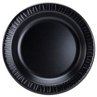 Dart Solo 9PBQR Quiet Classic 9 inch Black Laminated Round Foam Plate - 125/Pack