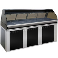 Alto-Shaam EU2SYS-96/PL SS Stainless Steel Cook / Hold / Display Case with Curved Glass and Base - Left Self Service, 96 inch