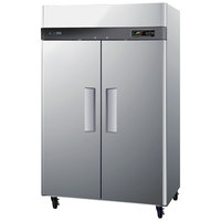 Turbo Air M3R47-2 52 inch M3 Series Two Section Solid Door Reach in Refrigerator - 47 Cu. Ft.