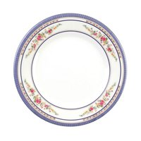 Rose 6 7/8 inch Round Melamine Plate - 12/Pack