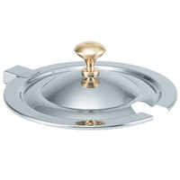 Vollrath 8231620 Miramar Hinged Cover with Brass Knob for 7 Qt. 8230010 Stainless Steel Soup Inset