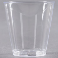 Fineline Quenchers 402-CL 2 oz. Plastic Shot Cup - 50/Pack